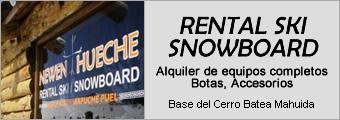 Alquiler de equipos de Esqui y Snowboard